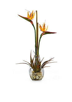 Nearly Natural Bird of Paradise Liquid Illusion Silk Arrangement