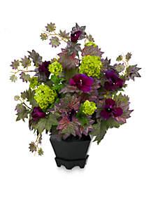 Morning Glory And Hydrangea Arrangement