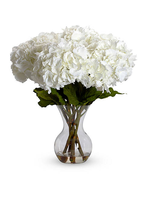 Nearly Natural Large Hydrangea With Vase Silk Flower