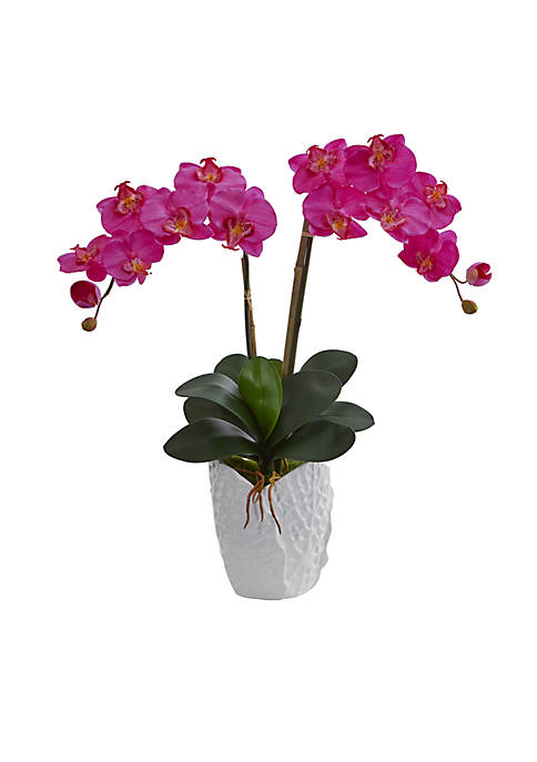 Nearly Natural Double Phalaenopsis Orchid Artificial Arrangement