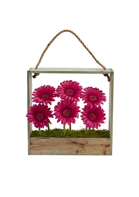 Nearly Natural Gerber Daisy Garden Artificial Arrangement in