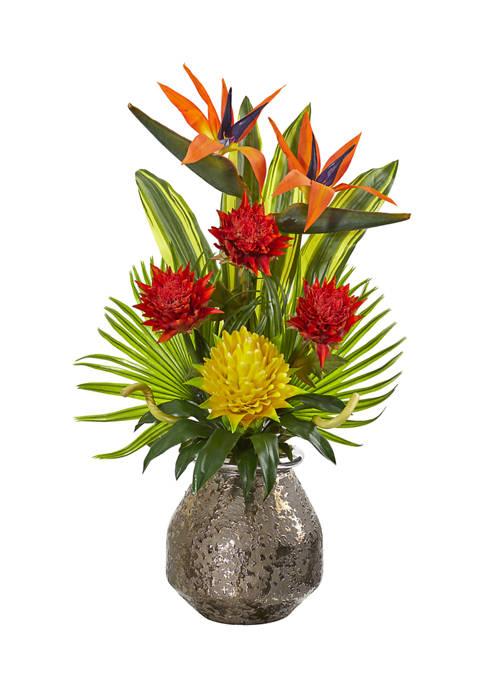 Tropical Arrangement in Designer Vase