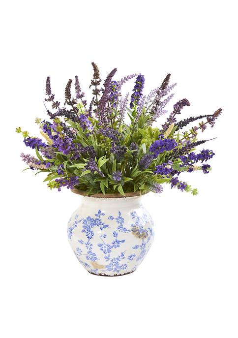 Lavender Arrangement in Floral Vase