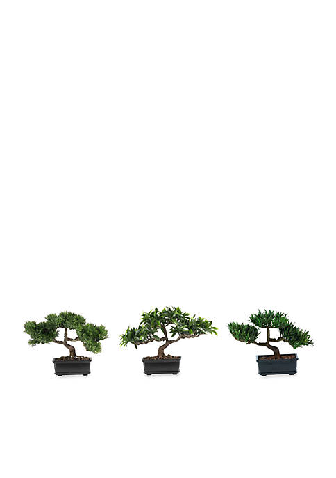 Nearly Natural 12-in. Bonsai Silk Plant Collection