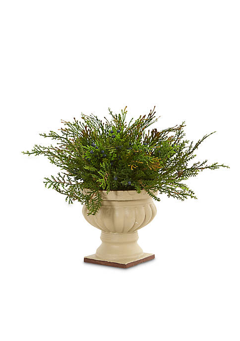 Nearly Natural Cedar and Blueberry Artificial Plant