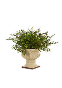 Cedar and Blueberry Artificial Plant