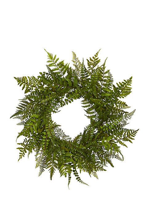 Nearly Natural Mixed Fern Artificial Wreath