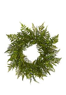 Mixed Fern Artificial Wreath