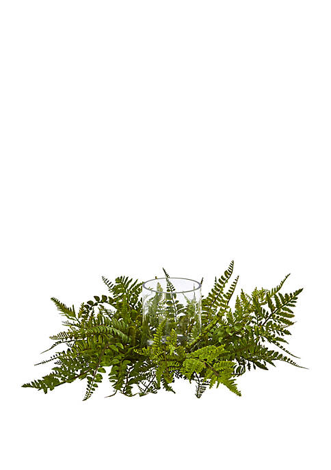 Nearly Natural Mixed Fern Artificial Arrangement Candelabrum