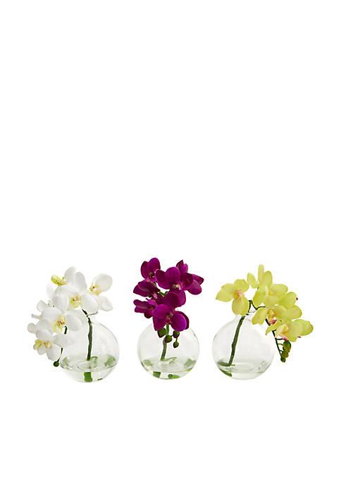 Phalaenopsis Orchid Artificial Arrangement, Set of 3