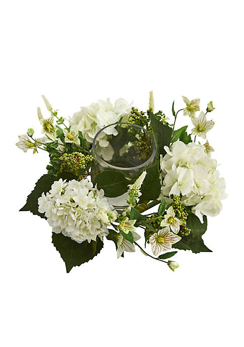 Nearly Natural Hydrangea Artificial Arrangement Candelabrum