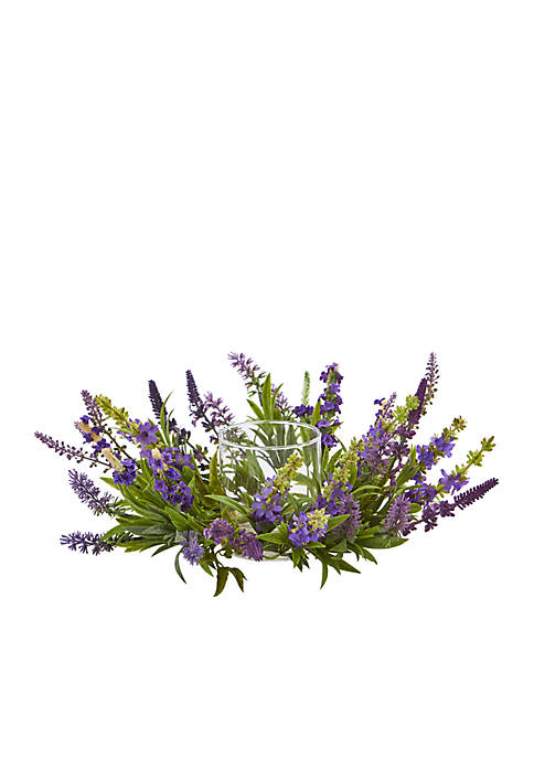 Nearly Natural Lavender Artificial Arrangement Candelabrum