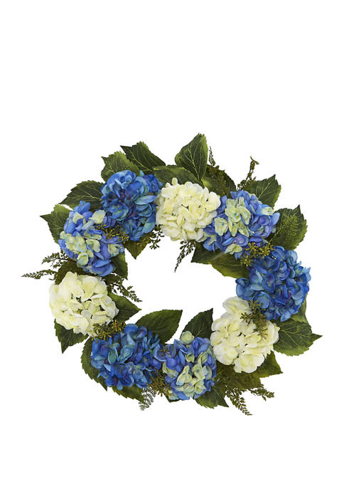 Nearly Natural 24 Inch Hydrangea Wreath