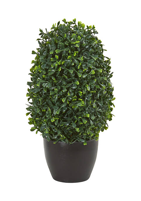 Nearly Natural Boxwood Topiary Plant Indoor/Outdoor