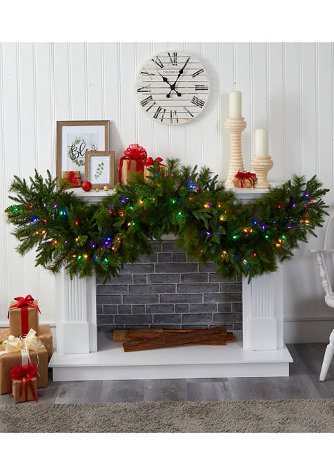 Nearly Natural Christmas Pine Extra Wide Garland