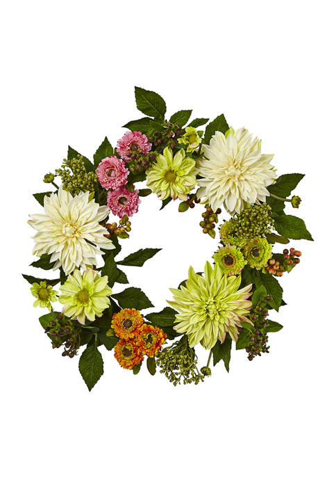 Dahlia Mum Wreath
