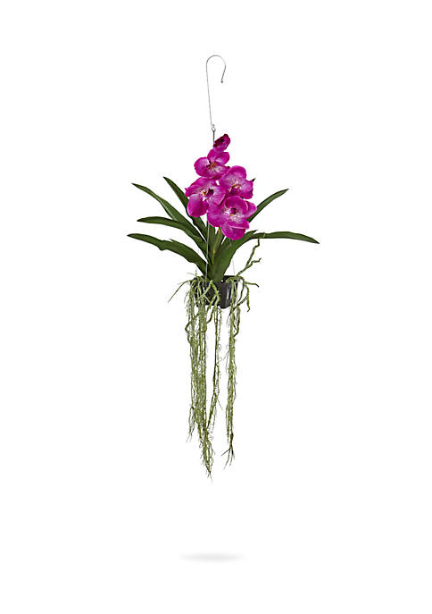 Vanda Orchid Hanging Basket Artificial Plant