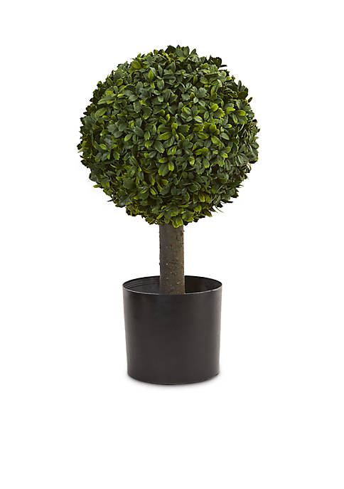 Nearly Natural 21-in. Boxwood Ball Topiary Artificial Tree
