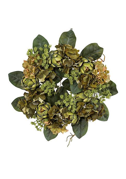 Nearly Natural Artichoke Wreath