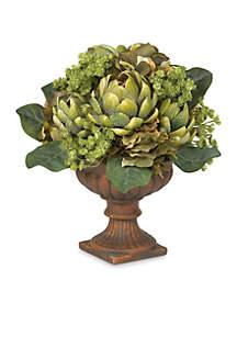 Artichoke Centerpiece Silk Flower Arrangement