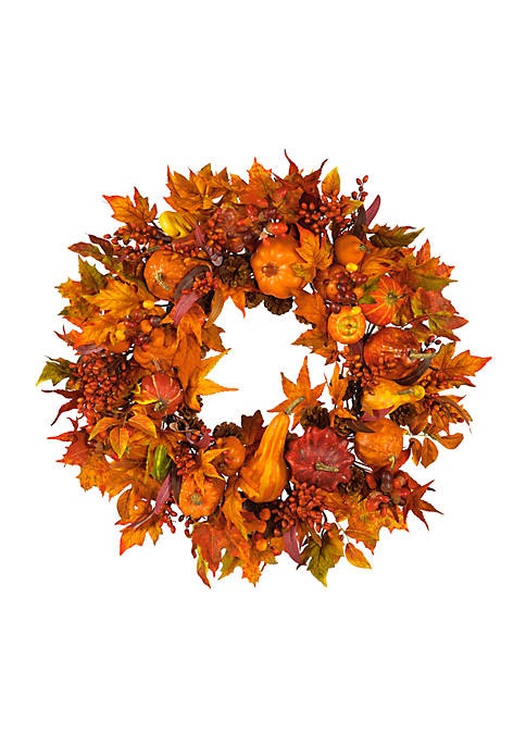 Nearly Natural 28-in. Harvest Wreath