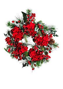 22-in. Hydrangea Wreath