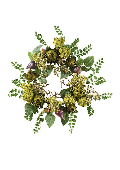 Nearly Natural 20-in. Artichoke Floral Wreath