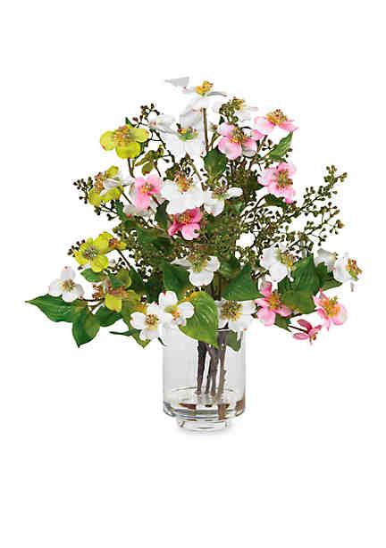 Artificial silk flower arrangements belk nearly natural dogwood silk flower arrangement mightylinksfo