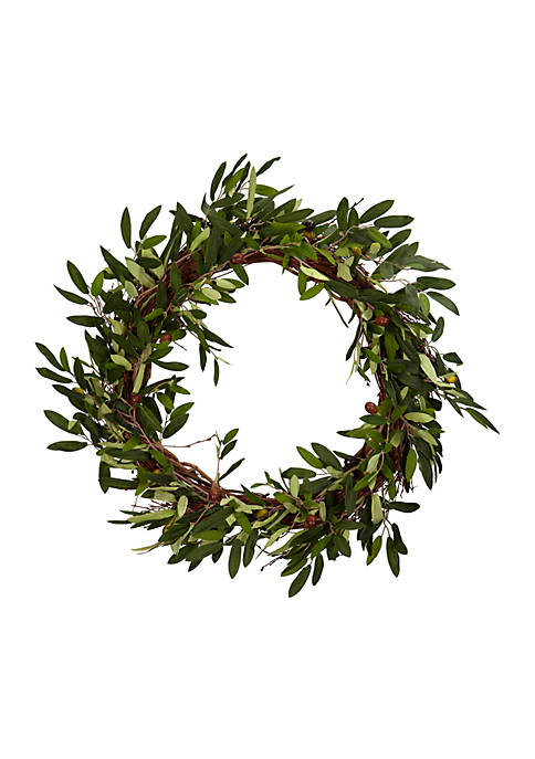 20-Inch Olive Wreath