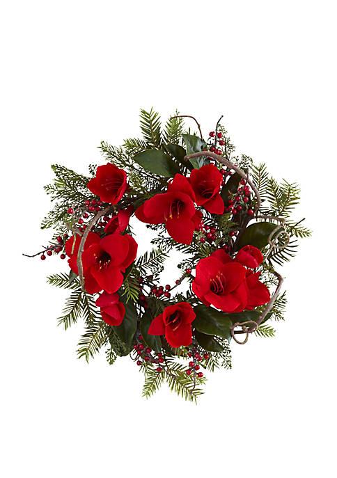 24 in Amaryllis Wreath
