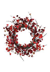 24 in Plum Blossom Wreath