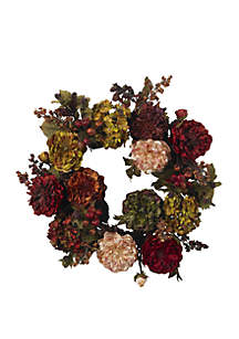22 in Autumn Hydrangea Peony Wreath