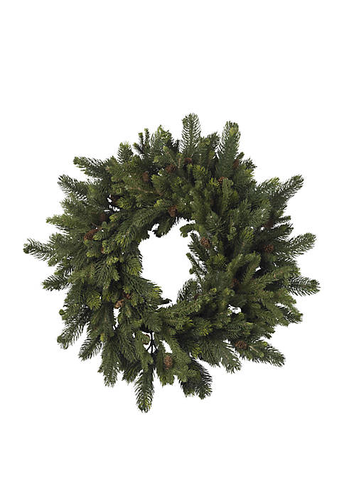 Nearly Natural 30 in Pine and Pinecone Wreath