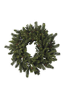 30 in Pine and Pinecone Wreath