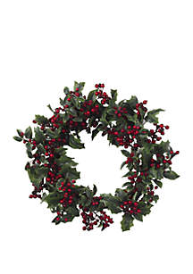 24 in Holly Berry Wreath