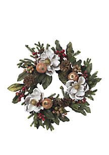 24 in Magnolia Pinecone & Berry Wreath