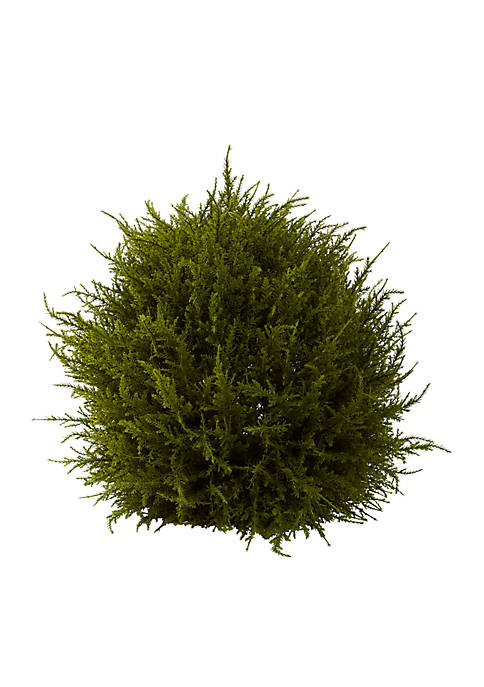 Nearly Natural 14-in. Cedar Sphere Topiary