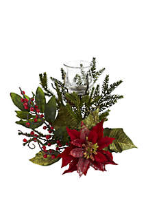 Poinsettia Candelabrum
