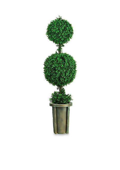 Nearly Natural 5-ft. Double Ball Leucodendron Topiary with