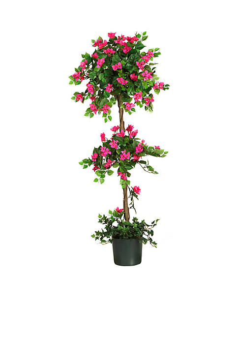 Nearly Natural 5-Foot Mini Bougainvillea Topiary