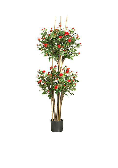 Nearly Natural 5-Foot Mini Rose Silk Tree