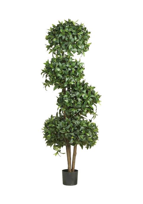 Nearly Natural Sweet Bay Topiary with 4 Balls