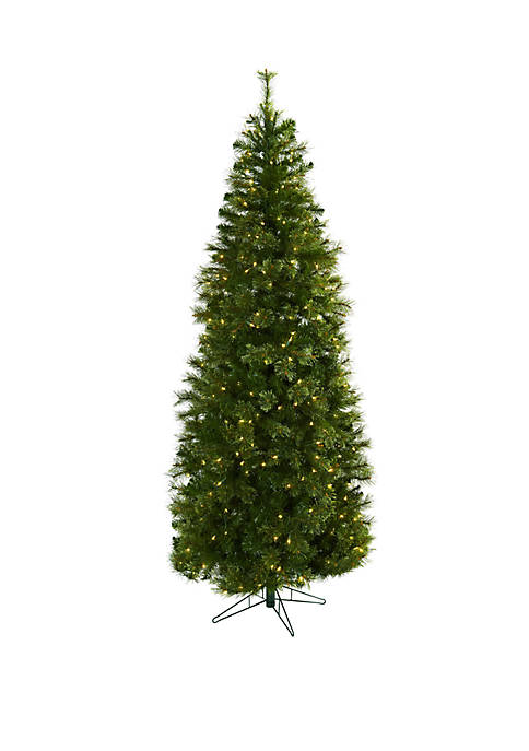 Nearly Natural 7.5 ft Cashmere Slim Christmas Tree