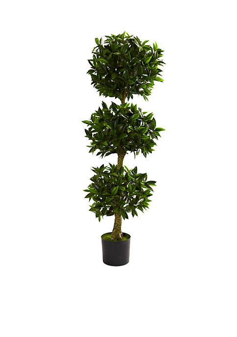 Nearly Natural 5-ft. Triple Bay Leaf Topiary UV