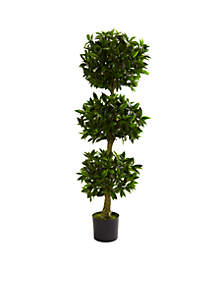 5-ft. Triple Bay Leaf Topiary UV Resistant (Indoor/Outdoor)