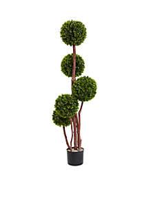 4-Foot Boxwood Topiary Tree x5 UV Resistant -Indoor/Outdoor