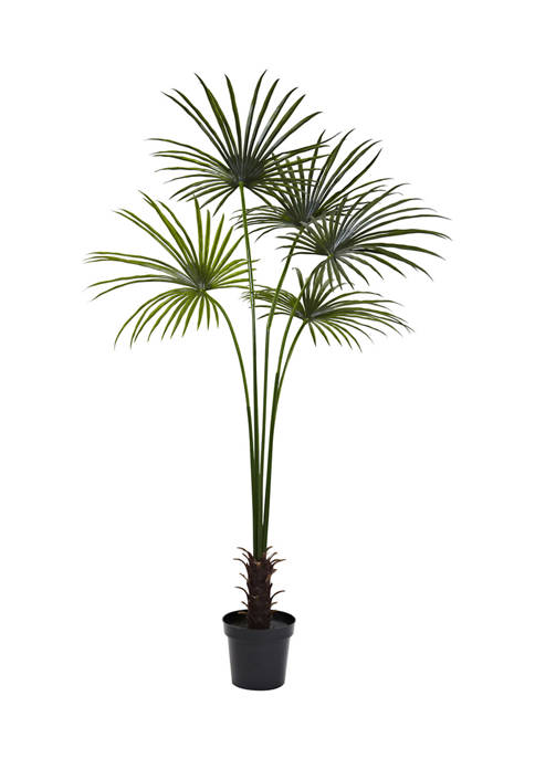 Nearly Natural Fan Palm Tree Indoor/Outdoor