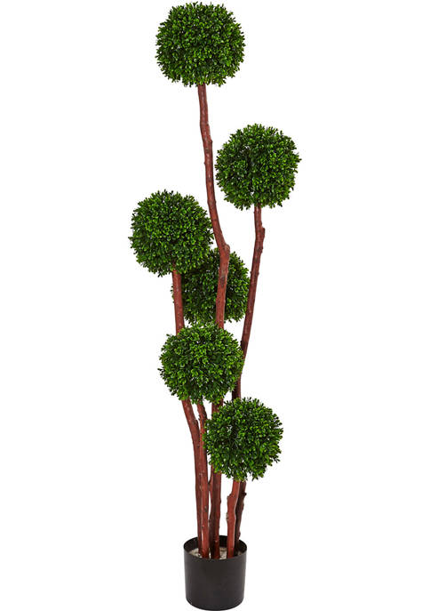 Nearly Natural Boxwood Tree Indoor/Outdoor