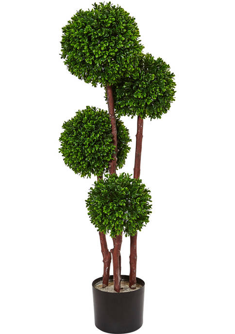 Nearly Natural Boxwood Topiary Tree Indoor/Outdoor