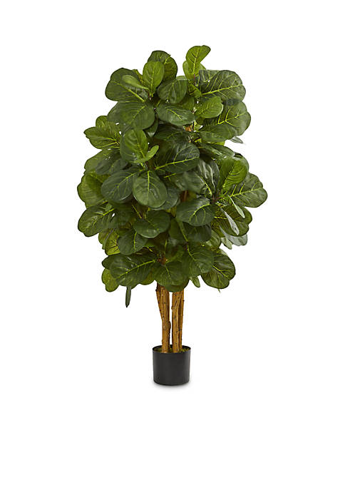 Nearly Natural 4-ft. Fiddle Leaf Fig Artificial Tree